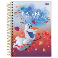 caderno-universitario-espiralado-capa-dura-15-materias-frozen-2-olaf-nature-is-magical-300-folhas-jandaia-58592-20_Frente