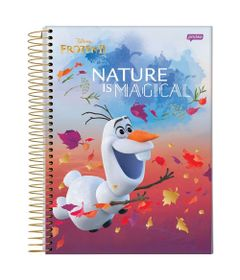 caderno-universitario-espiralado-capa-dura-15-materias-frozen-2-olaf-nature-is-magical-300-folhas-jandaia-58592-20_Frente
