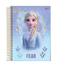caderno-universitario-espiralado-capa-dura-15-materias-frozen-2-elsa-face-your-fear-300-folhas-jandaia-58592-20_Frente