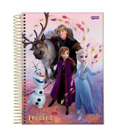 caderno-universitario-espiralado-capa-dura-15-materias-frozen-2-turma-frozen-300-folhas-jandaia-58592-20_Frente