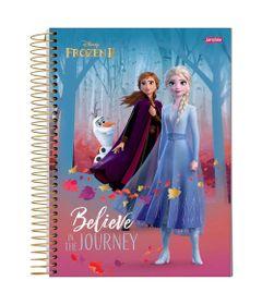 caderno-universitario-espiralado-capa-dura-15-materias-frozen-2-ana-e-elsa-believe-in-the-jouney-300-folhas-jandaia-58592-20_Frente