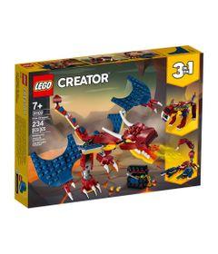lego-creator-dragao-de-fogo-31102_Frente