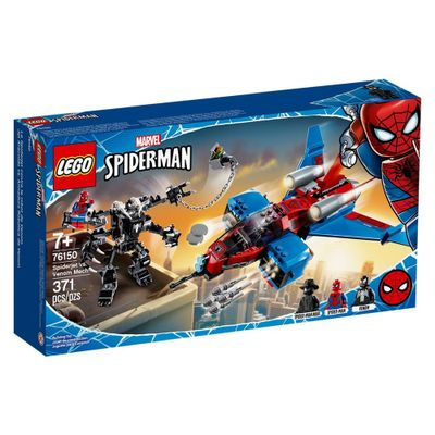 lego-super-heroes-disney-marvel-homem-aranha-spiderjet-vs-robo-venom-76150_Frente