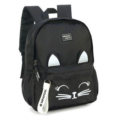 mochila-escolar-48-cm-up4you-gatinho-preto-luxcel-MS45733-UP-0300UN_Frente