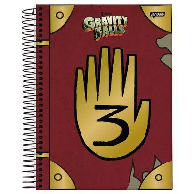 caderno-universitario-espiralado--gravity-falls-jandaia_Frente