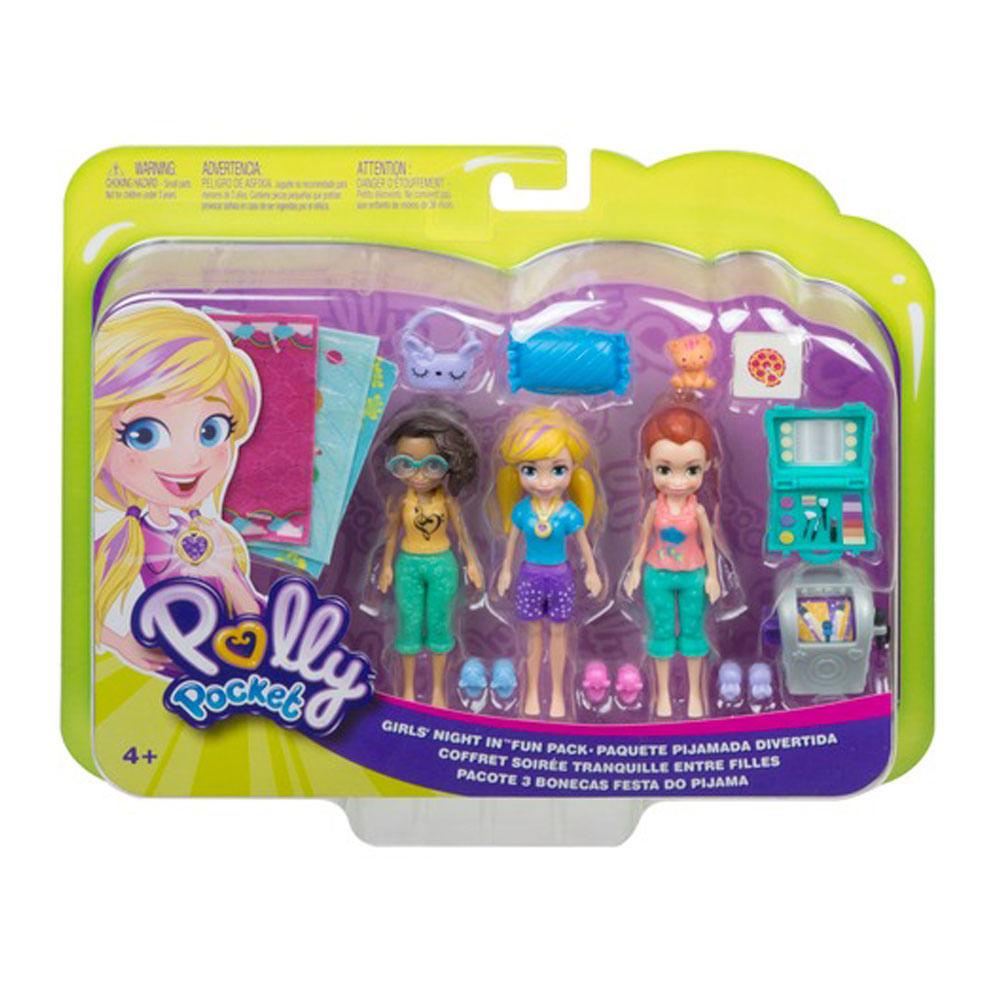 Mini Bonecas e Acessórios - Polly Pocket - Club House da Polly - Festa do Pijama - Mattel