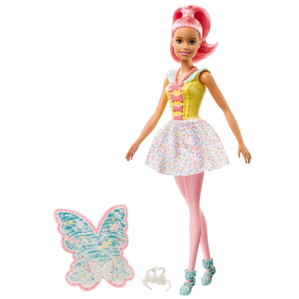 Boneca Barbie - Barbie Dreamtopia - Fada Cabelo Rosa - Mattel