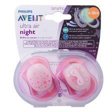 conjunto-com-2-chupetas-ultra-air-night-bico-de-silicone-6-a-18-meses-rosa-philips-avent-SCF376-22_Frente