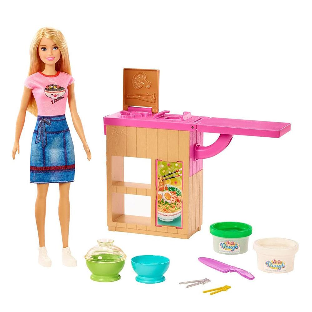 Playset e Boneca Barbie - Máquina de Macarrão - Mattel
