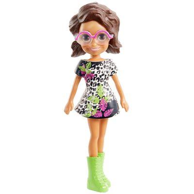 Boneca-e-Acessorios---Polly-Pocket---Shani-com-Vestido-Preto-e-Branco---Mattel
