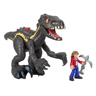Figura-Basica-Imaginext---Jurassic-World-2---Indoraptor-e-Maisie---Mattel