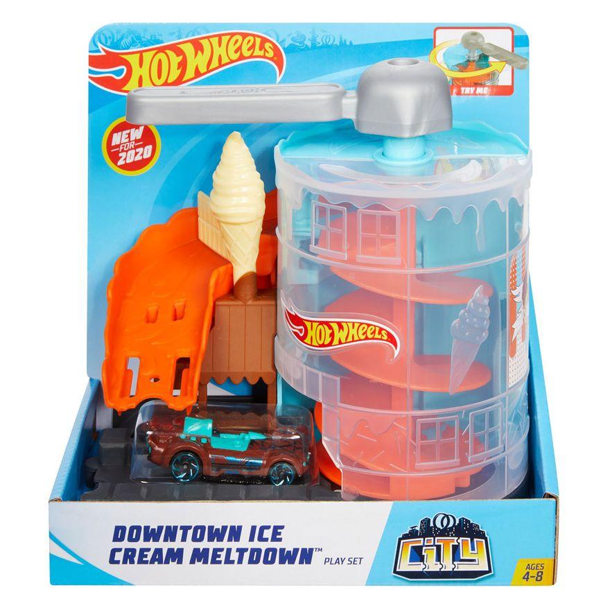 Pista-Hot-Wheels---City-Downtown---Loja-de-Sorvete---Mattel