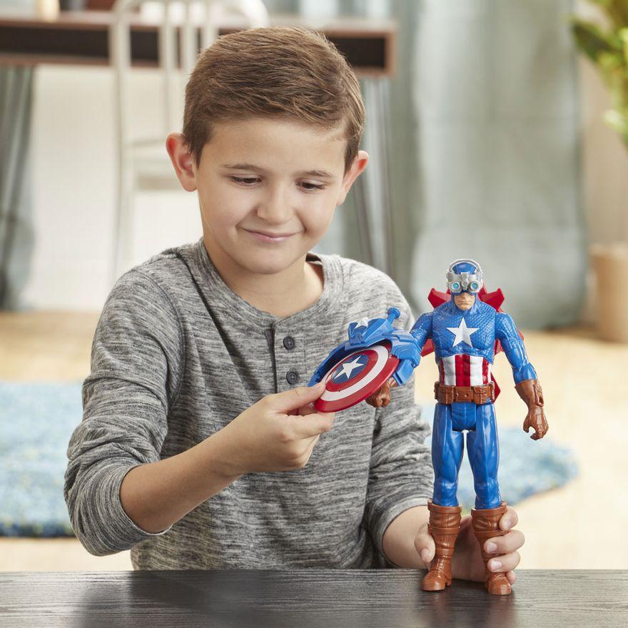 Figura-Articulada---30-Cm---Titan-Heroes---Disney---Marvel---Avengers---Capitao-America---Blast-Gear---Hasbro