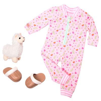 acessorios-de-bonecas-our-generation-pijama-rosa-com-lhama-293_frente