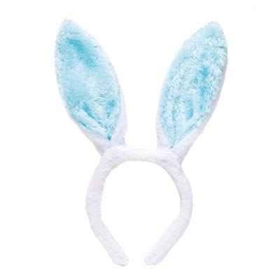 tiara-infantil-orelhas-de-coelho-branco-e-azul-cromus-1825119_Frente