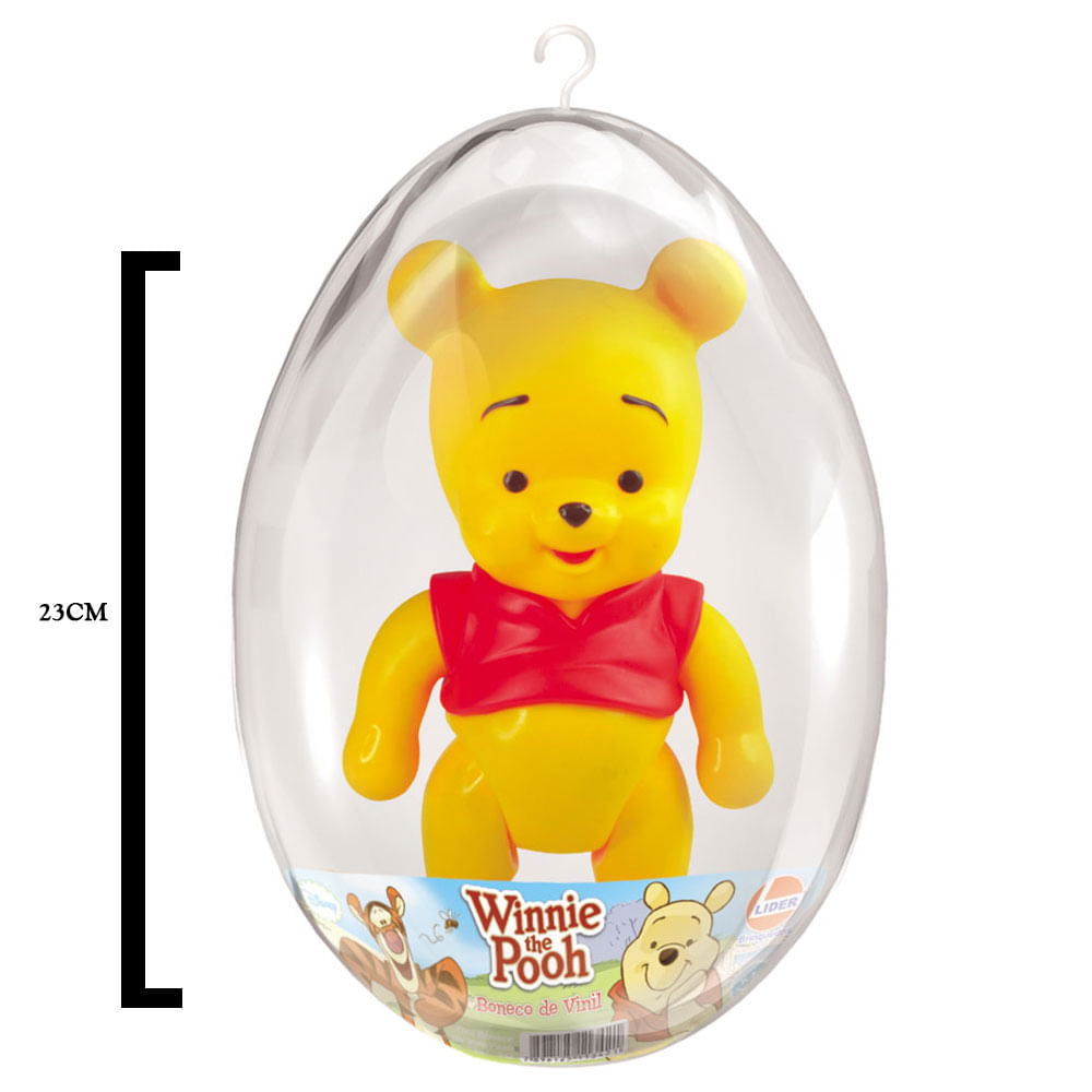 Boneco de Vinil - 23 Cm - Disney - Ursinho Pooh - Pooh - Embalagem de Páscoa - Líder