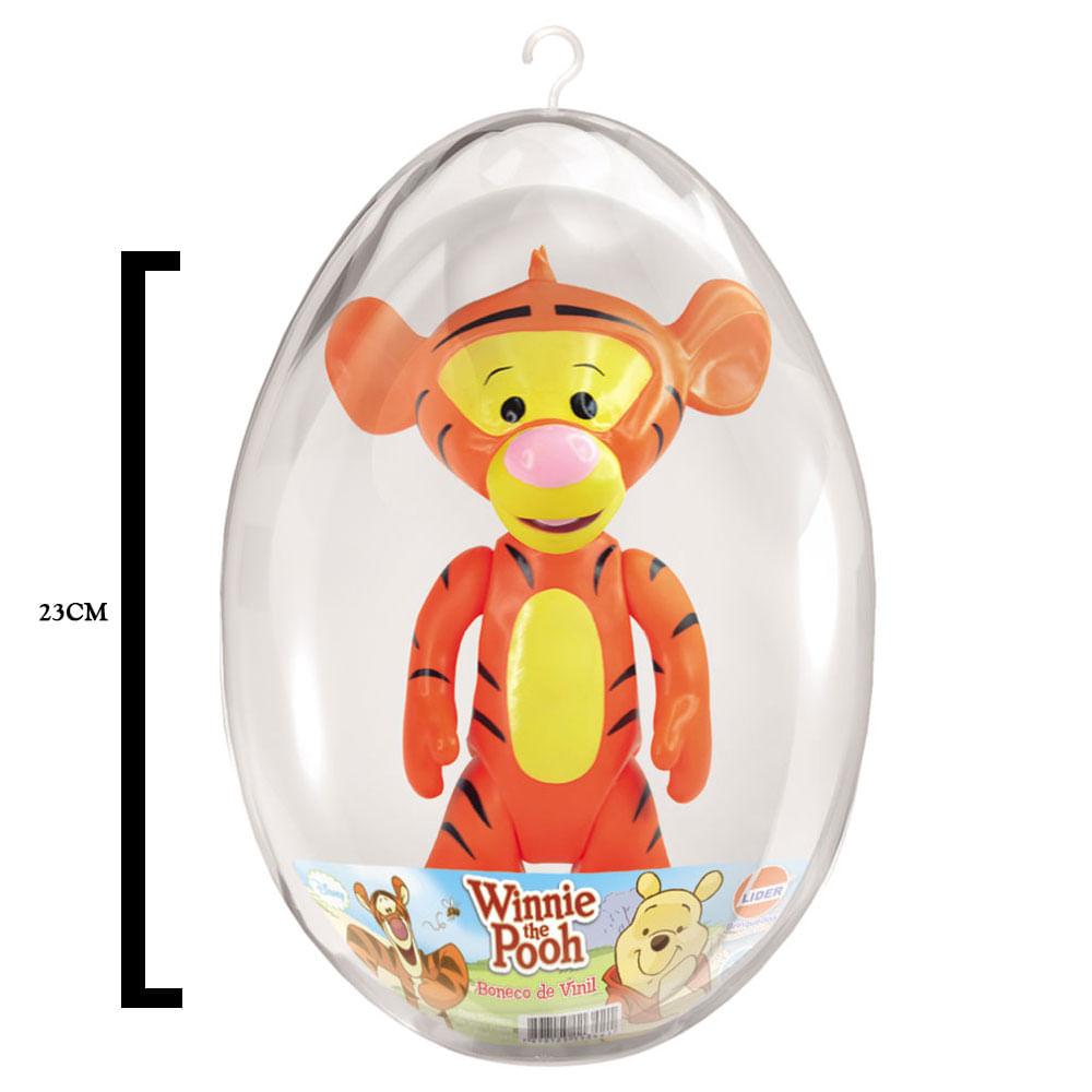 Boneco de Vinil - 23 Cm - Disney - Ursinho Pooh - Tigrão - Embalagem de Páscoa - Líder