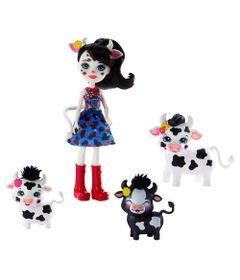 Mini-Boneca-Articulada-e-Pets---21-Cm---Enchantimals---Familia-de-Inverno---Cambrie-Cow-Ricotta-Mac-e-Cheese---Mattel