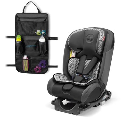 Kit-de-Cadeira-Para-Auto---De-0-a-36-Kg---All-Stages-Fix---Cinza---Fisher-Price-e-Organizador-Para-Carrinho---Travel-Bag---Multikids-Baby-1