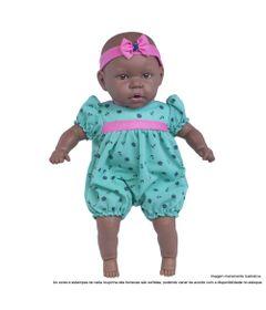 Boneca-Bebe---44-Cm---My-Sweet-Baby---Negra---Vestido-Verde-e-Rosa---Cotiplas_Frente