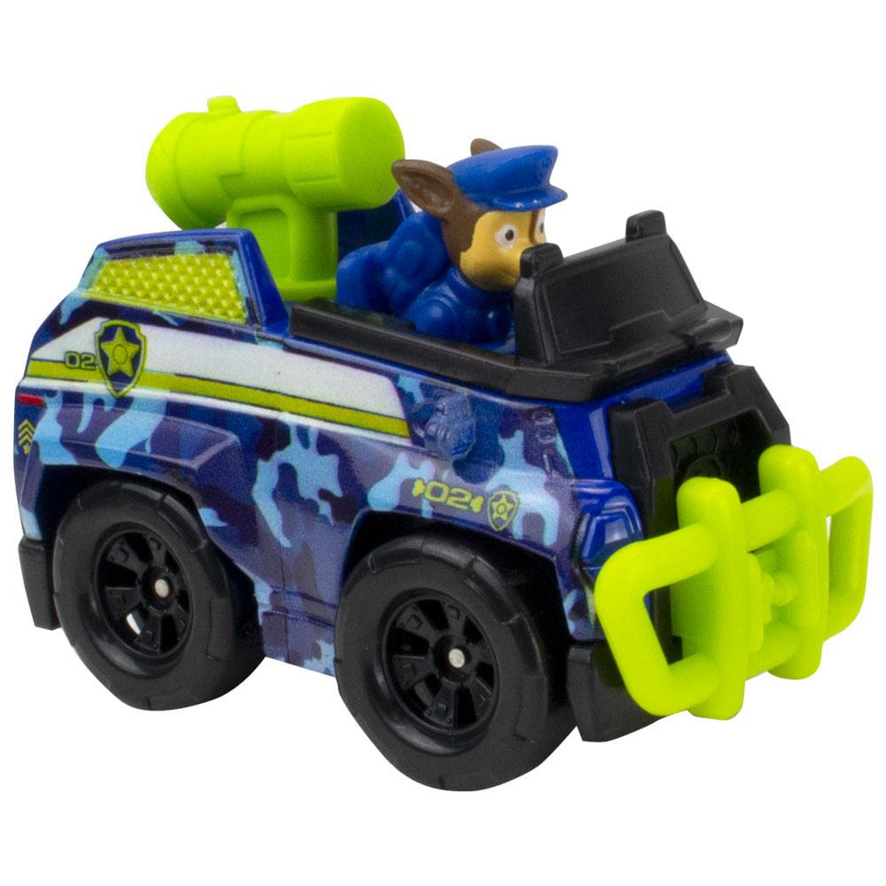 Mini Veículo - Patrulha Canina - Resgate na Selva - True Metal - Chase - Sunny