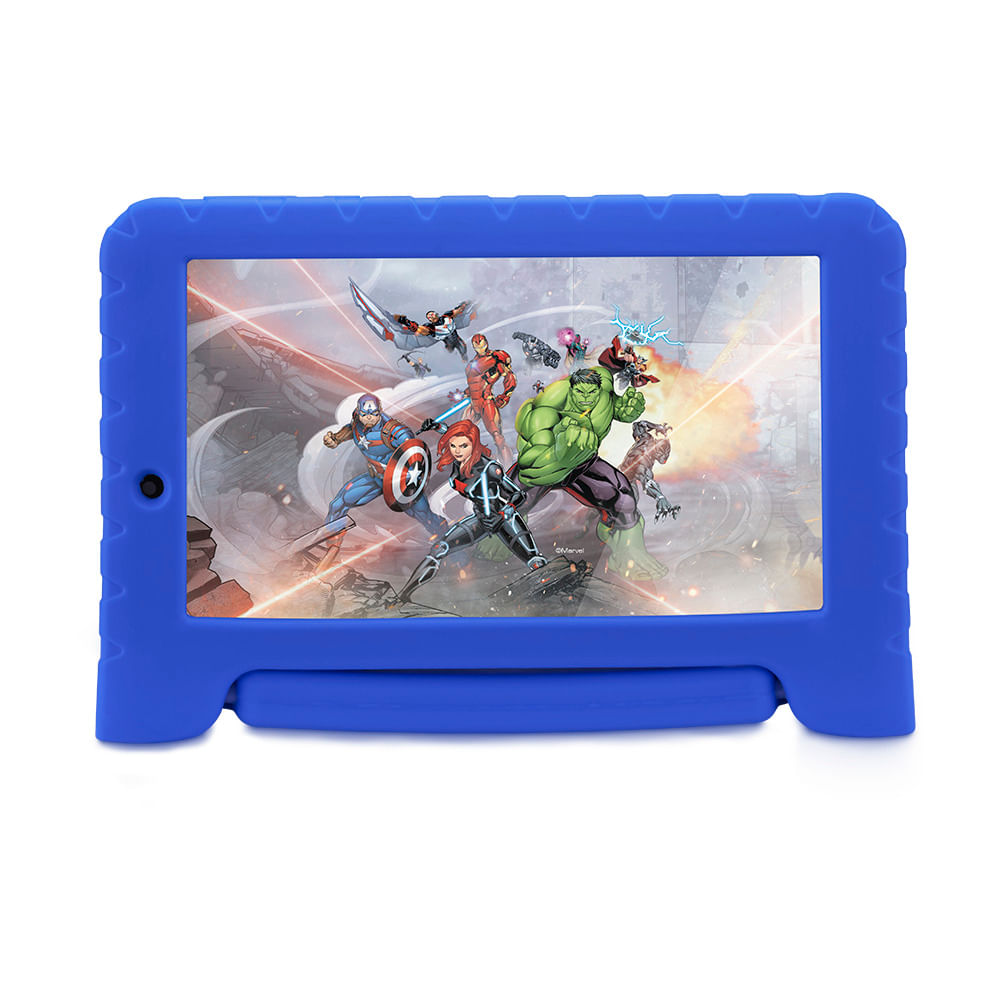 Tablet Multilaser Vingadores Plus 16GB Tela 7 Pol. Quad Core Dual Câmera Azul - NB307