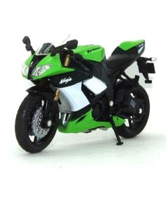 Mini-Moto-Cycle---Escala-1-18---Kawazaki-Ninja---Verde-e-Preta---California-Toys