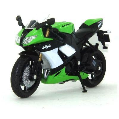 Mini-Moto-Cycle---Escala-1-18---Kawazaki-Ninja---Verde-e-Preta---California-Toys