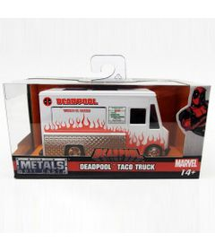 Mini-Veiculo-Die-Cast---Escala-1-32---Disney---Marvel---Deadpool---Taco-Truck---California-Toys