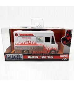 Mini-Veiculo-Die-Cast---Escala-1-32---Disney---Marvel---Deadpool---Taco-Truck---California-Toys