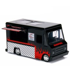 Mini-Veiculo-Die-Cast---Escala-1-32---Disney---Marvel---Deadpool---Taco-Truck---Preto---California-Toys