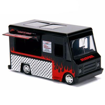 Mini-Veiculo-Die-Cast---Escala-1-32---Disney---Marvel---Deadpool---Taco-Truck---Preto---California-Toys