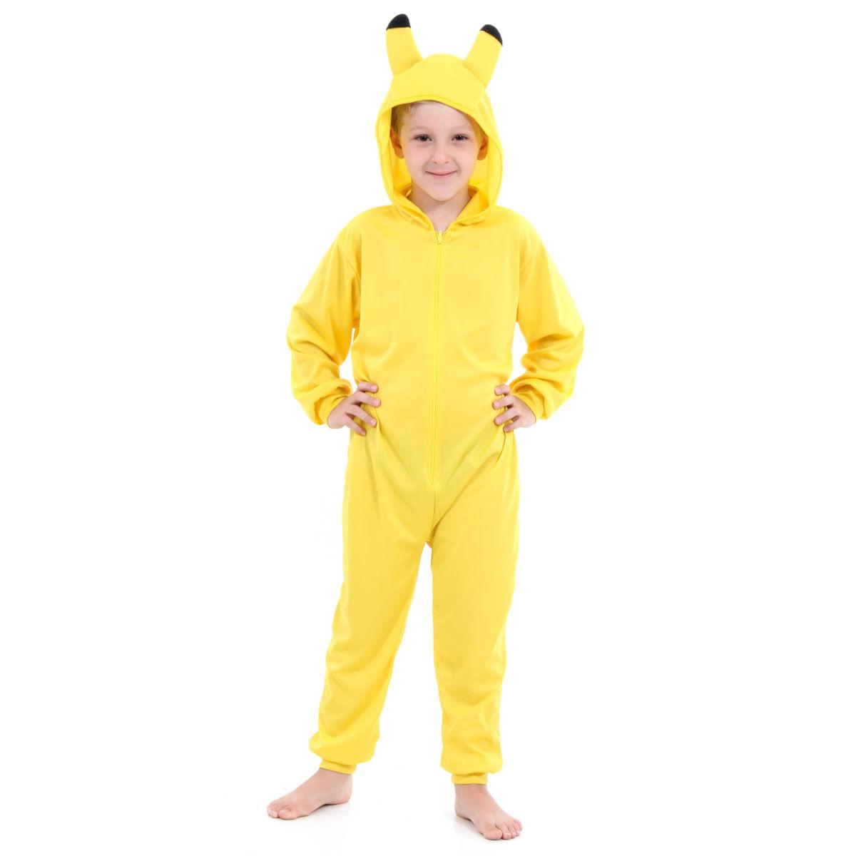 Fantasia Macacão Amarelo Pikachu