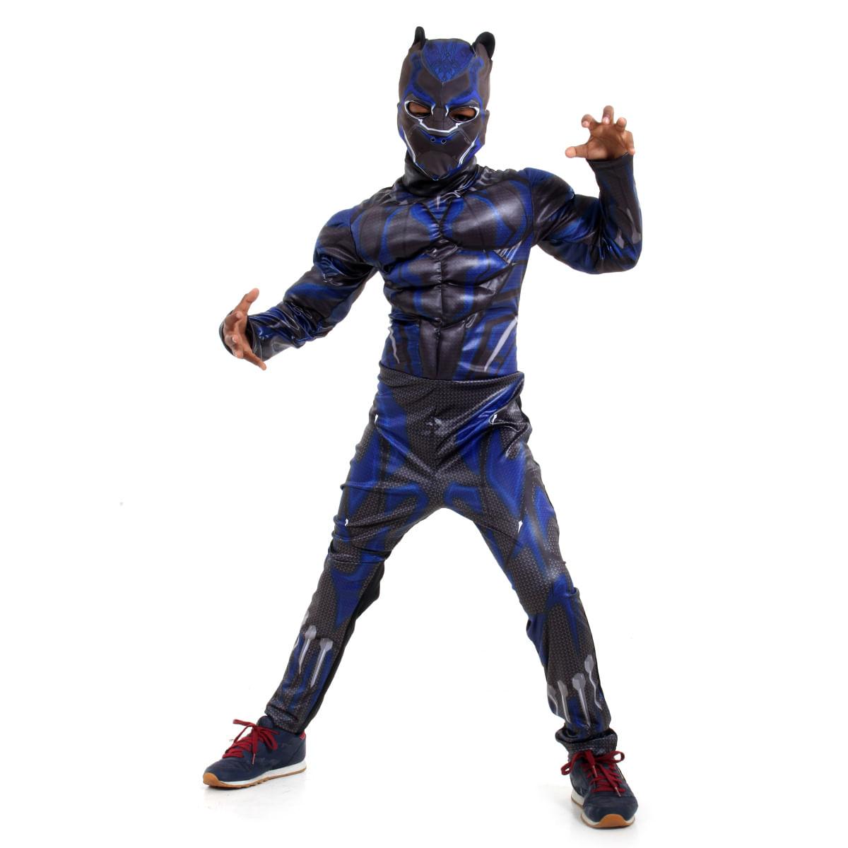 Fantasia Pantera Negra Infantil Luxo - Avengers - Marvel