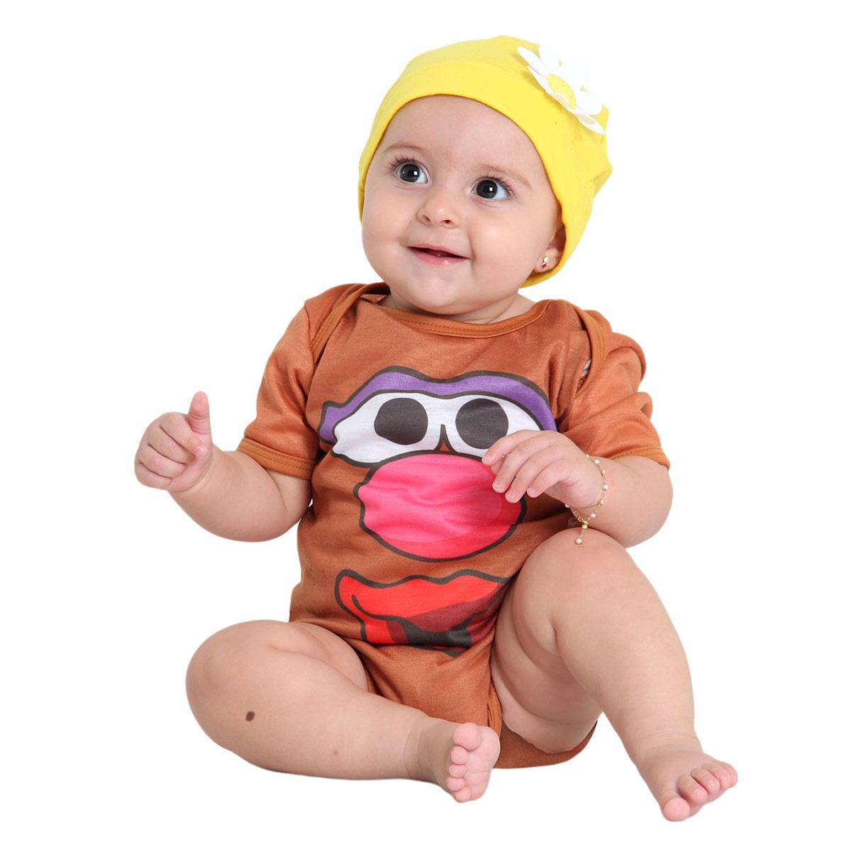 Fantasia Body Cabeça de Batata Bebê Feminino