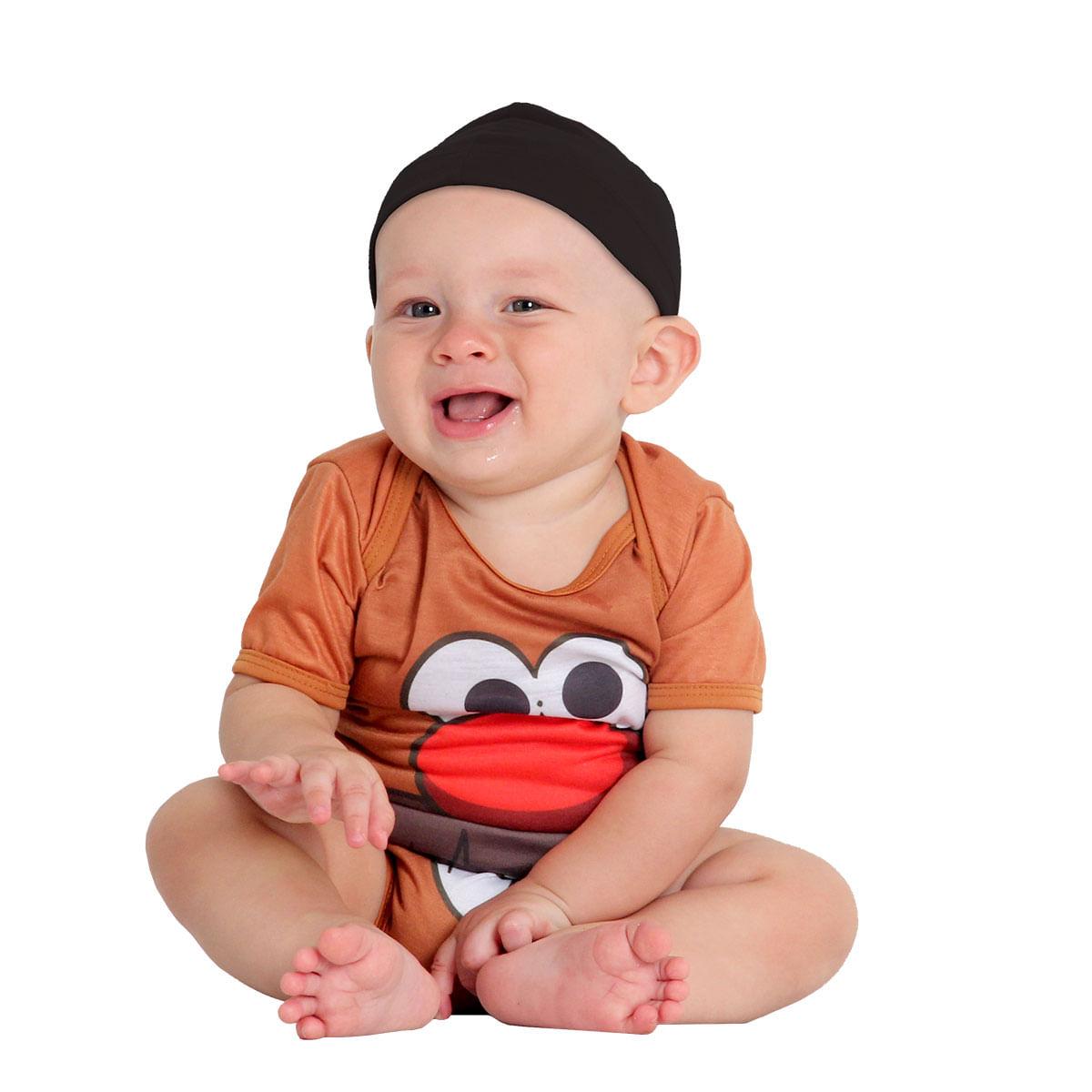 Fantasia Body Cabeça de Batata Bebê