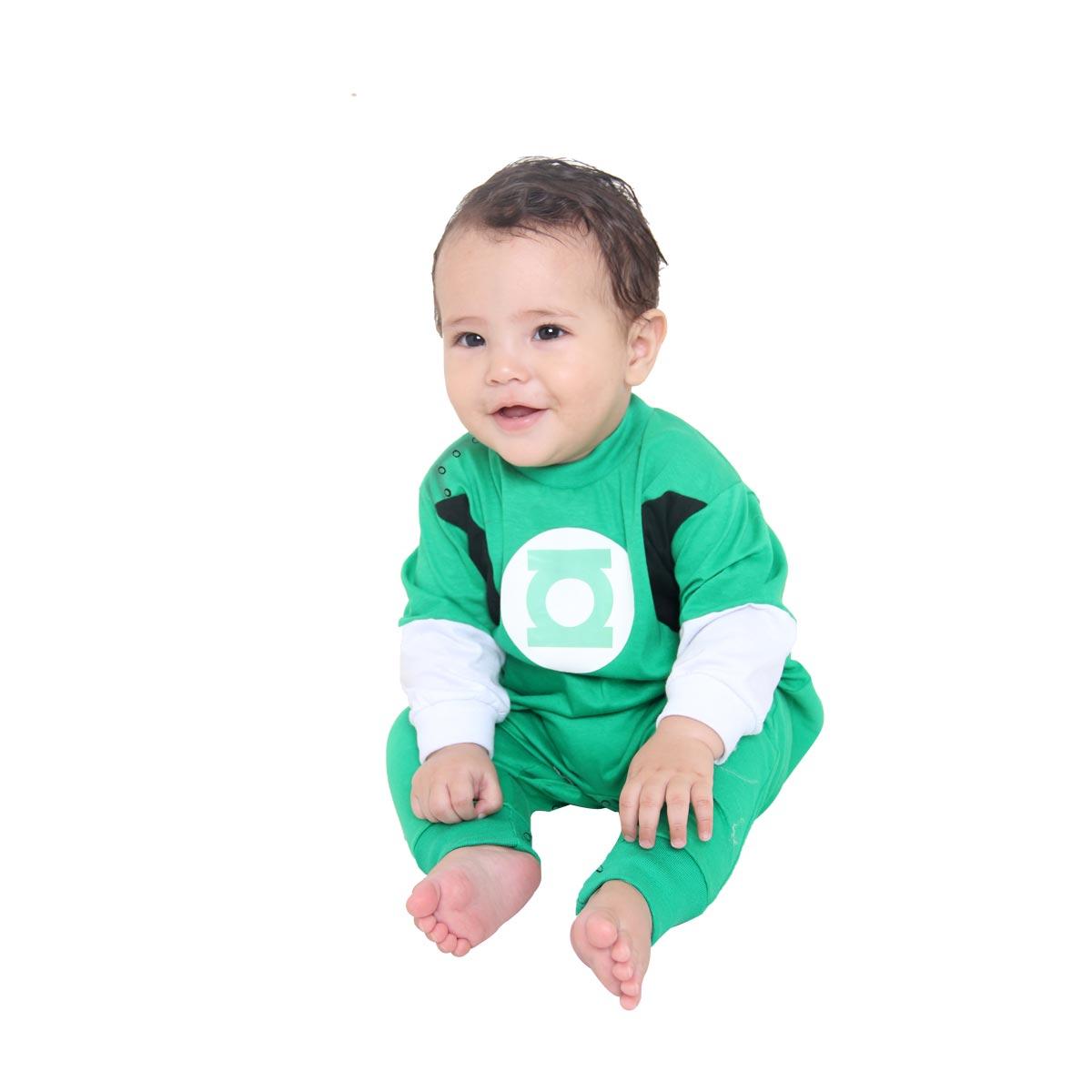 Fantasia Macacão Lanterna Verde Bebê