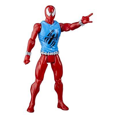Figura-Articulada---30-Cm---Titan-Heroes---Disney---Marvel---Spider-Man-Warriors---Scarlet-Spider---Hasbro