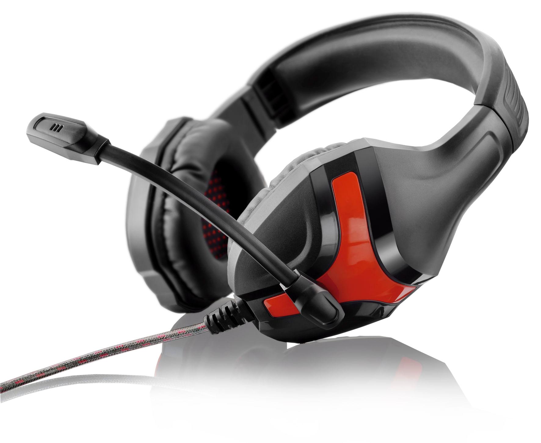 Headset Gamer Warrior Harve P2 Stereo Preto/Vermelho - PH101