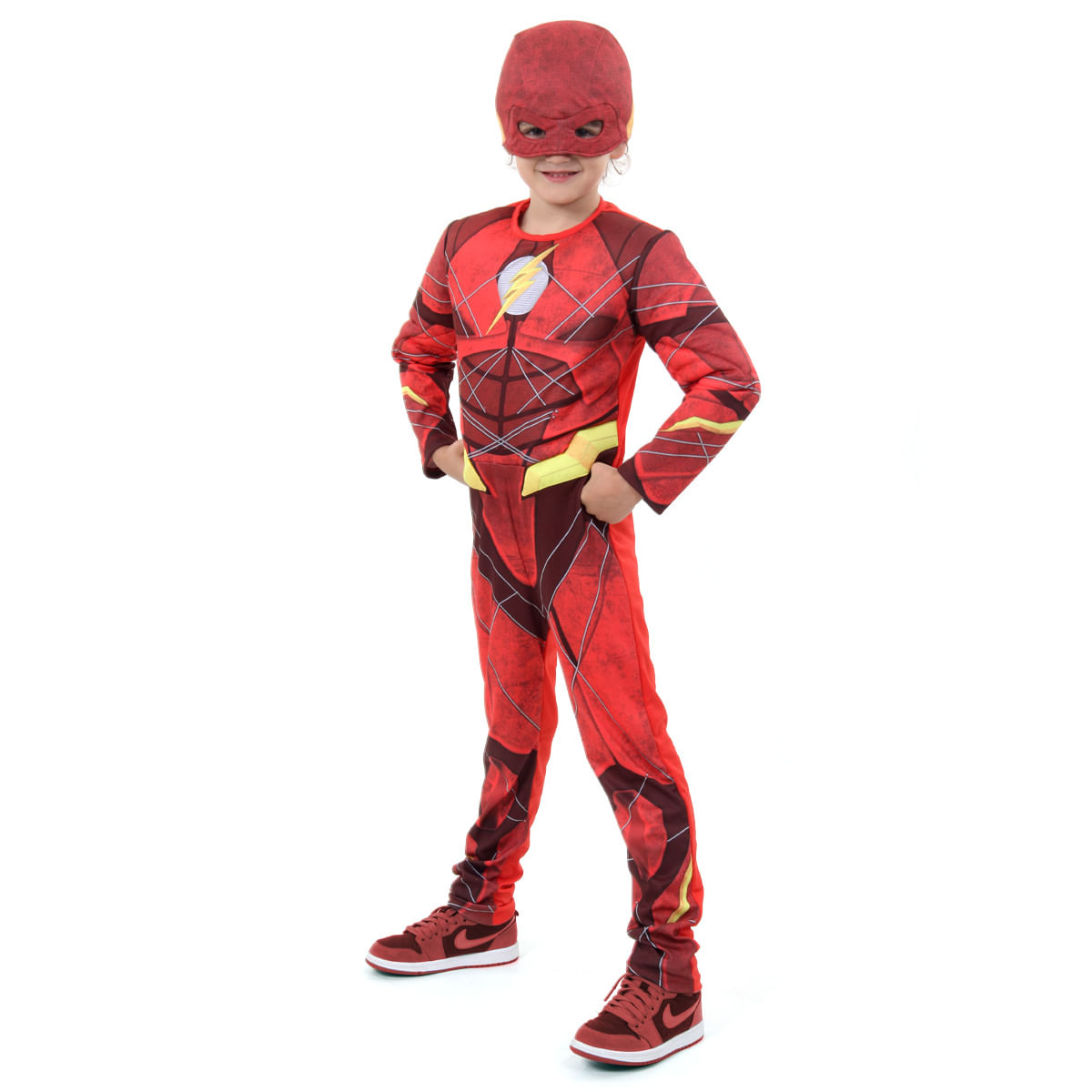 Fantasia Flash Infantil Luxo - Liga da Justiça