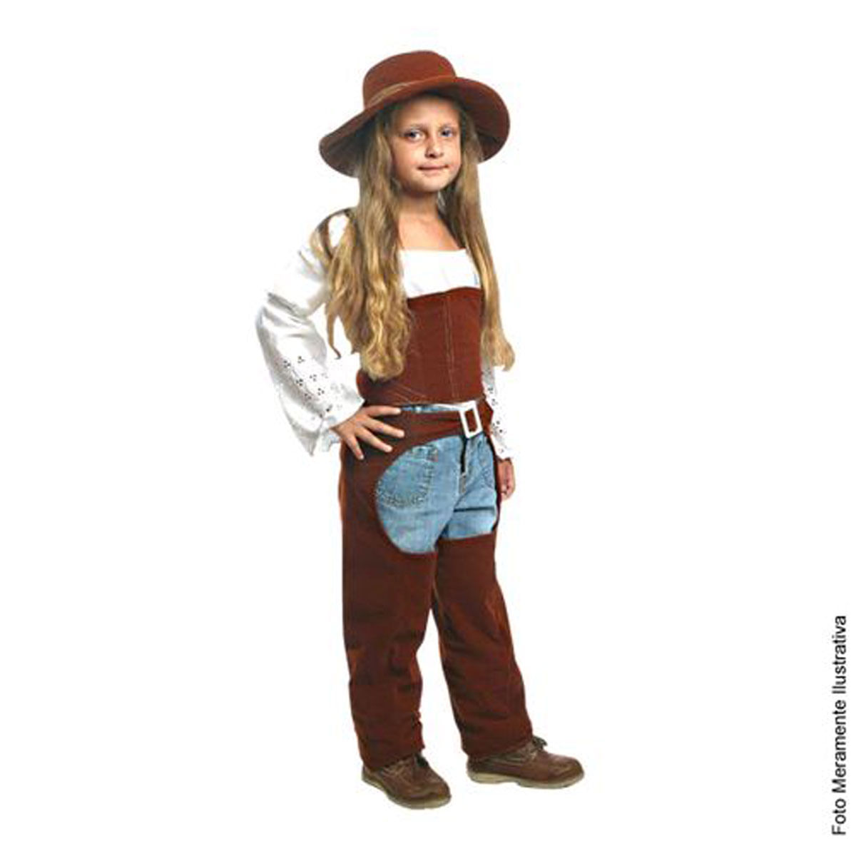 Fantasia Cowgirl Infantil Luxo - Festa Junina