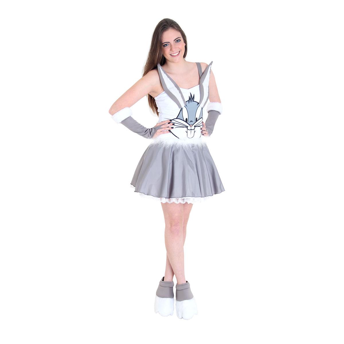 Fantasia Pernalonga Feminino Teen