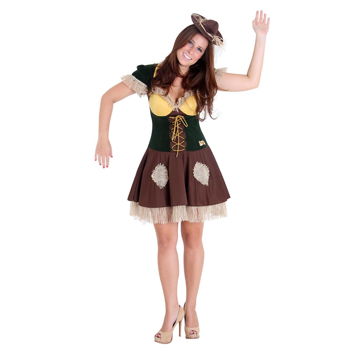 Fantasia Espantalho Feminino Teen - Magico de Oz