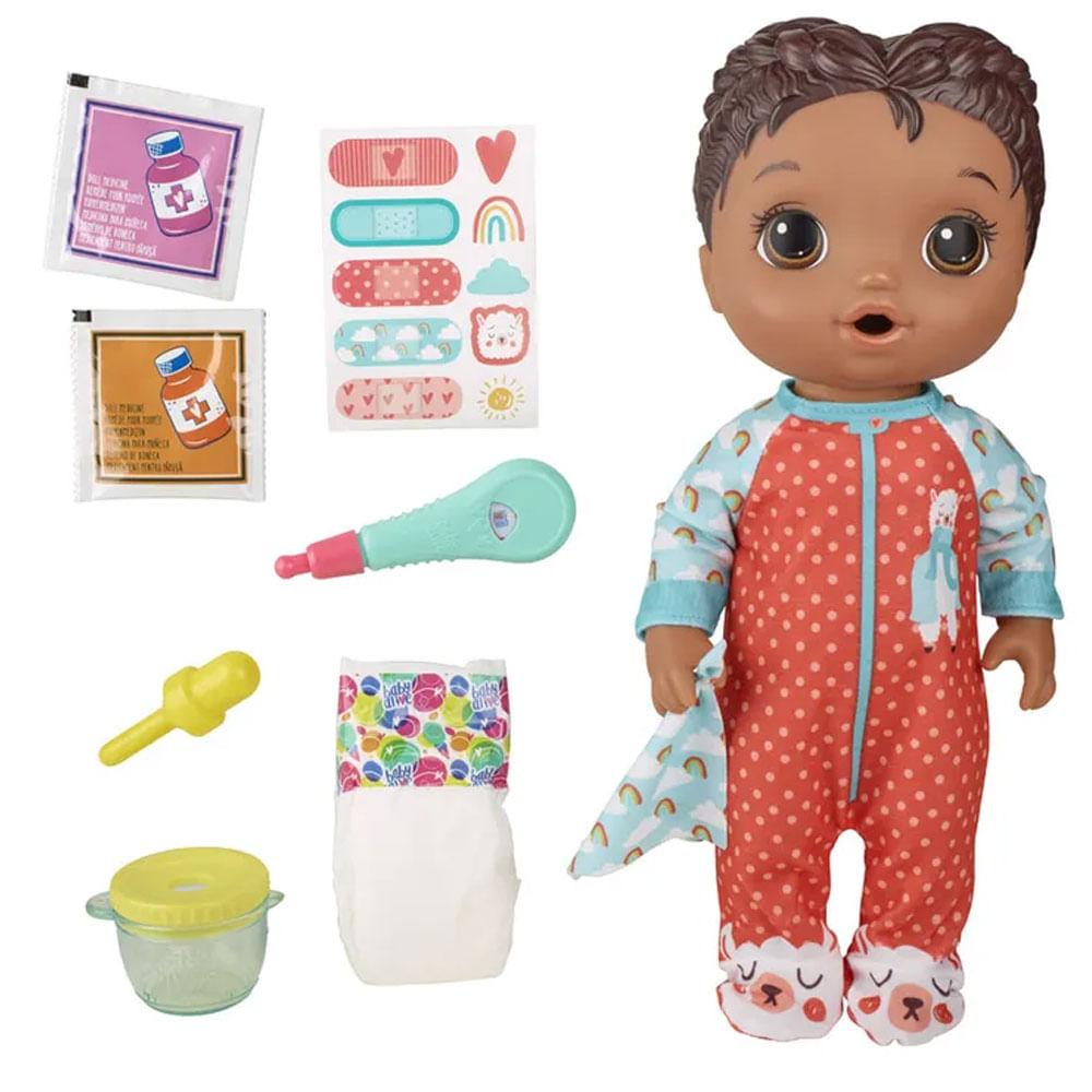 Boneca Baby Alive - Aprendendo a Cuidar - Negra - Lhama - E6941 - Hasbro