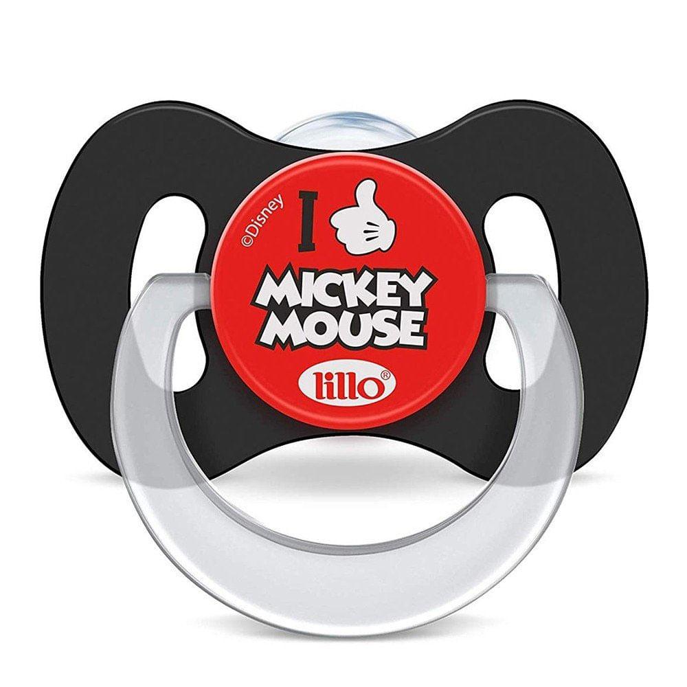 Chupeta Ortodôntica - Silicone - Disney - Mickey  Mouse - Tam 1 - 0 a 6 Meses - Lillo
