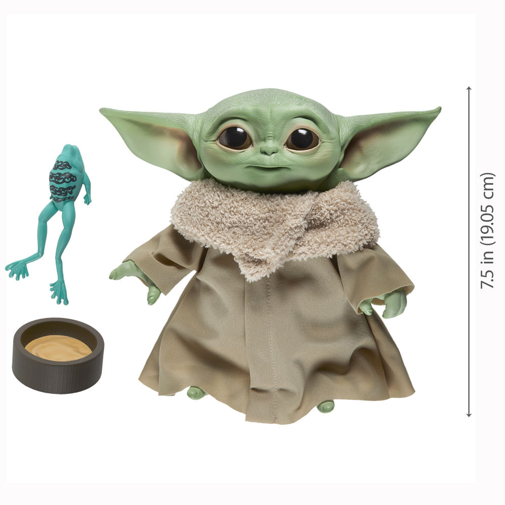 Pelúcia Interativa - 19 Cm - Disney - Star Wars - The Mandalorian - Baby Yoda - Hasbro