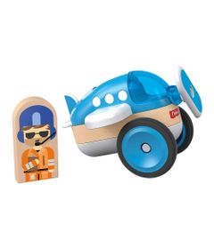 Mini-Veiculo-e-Figura---Wonder-Makers---Airplane---Fisher-Price