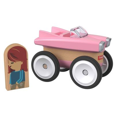 Mini-Veiculo-e-Figura---Wonder-Makers---Classic-Car---Fisher-Price