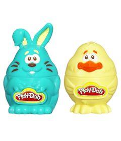 Conjunto-Massas-de-Modelar---Play-Doh---Coelhinho-e-Pintinho---Azul-e-Amarelo---Hasbro-Frente