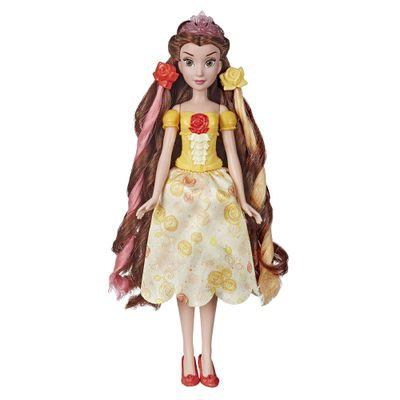 Boneca-Articulada---Princesas-Disney---Bela---Brilho-Real---Cabelo-Divertido---Hasbro